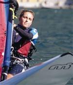 Alessandra Sensini al salone nautico di Genova