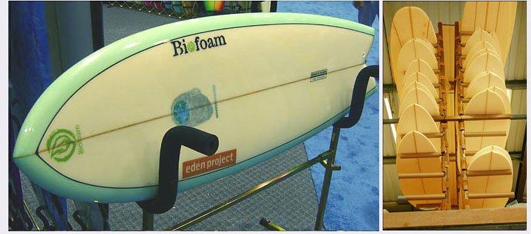 Tavole da surf prodotte con materiali naturali