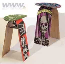 Quando lo skateboard diventa uno sgabello