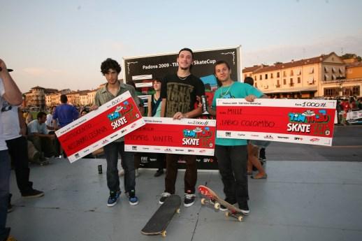 vincitori TIM tribu Skate Cup Padova