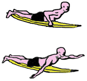 IL PADDING nel surf da onda