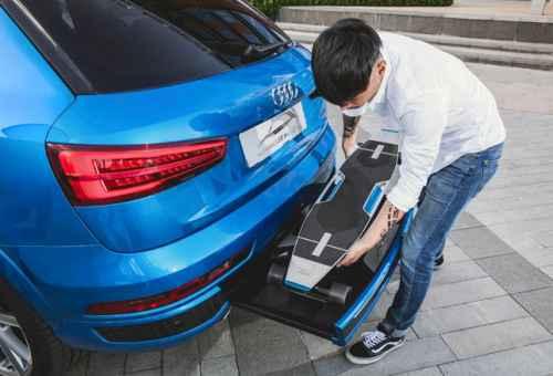 Audi presenta il suv con longboard