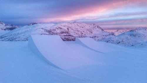Linea salti allo Snowpark Mottolino