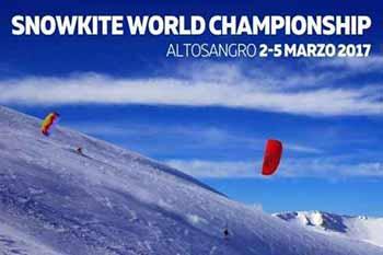 La quarta edizione del campionato del mondo di Snowkite in scena a Roccaraso