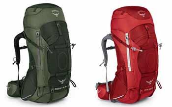 Aether AG e Ariel AG Backpacking senza limiti
