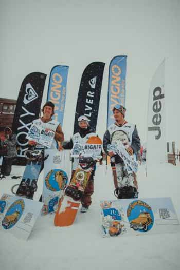 Il podio del DEEJAY Xmasters Big Air Contest