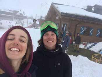 Davide Boggio e Margherita Meneghetti durante lo shooting a Kaprun