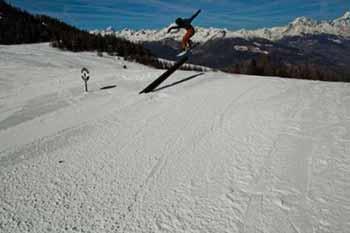 Action allo Snowpark AreaEffe di Pila
