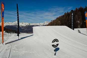 Una delle linee dello Snowpark AreaEffe di Pila