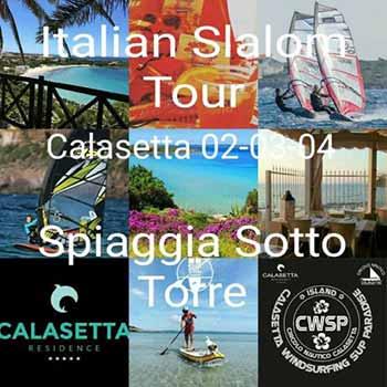A Calasetta, in Sardegna, la 3.a tappa Italian Slalom Tour Windsurf 2017