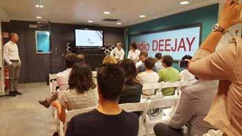 La conferenza stampa alla sede di Radio DEEJAY