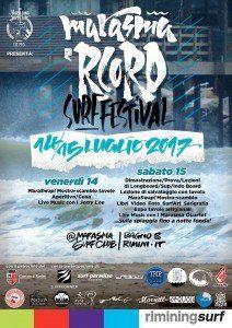"""Rimini: al bagno 8 il """"Marasma'Rcord Surf Festival"""""""