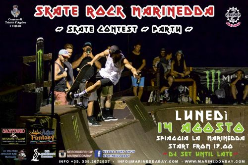 Ferragosto alla Marinedda con lo Skate rock pool party
