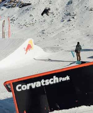 Lo snowpark di Corvatsch