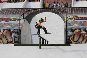"Marcello ""Marcy"" Grassis al World Rookie Rail Jam by Skipass"