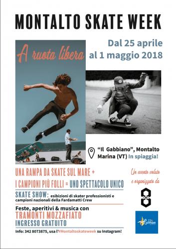 A RUOTA LIBERA - Montalto skate week - PRIMA CHIAMATA, CI SIETE?