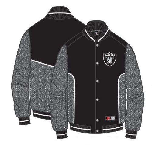 Majestic Peika Fleece Letterman Jacket - Oakland Raiders - Prezzo al pubblico: € 75,00
