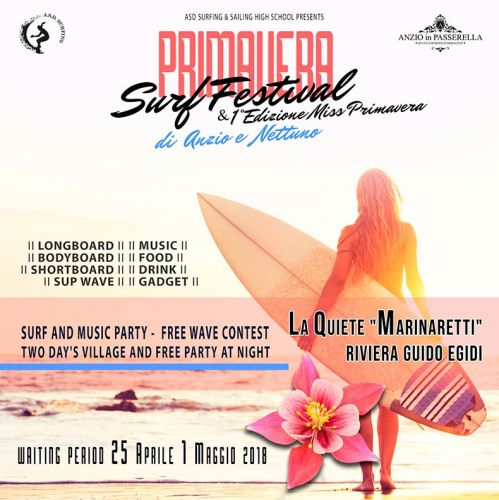 Primavera Surf Festival di Anzio e Nettuno