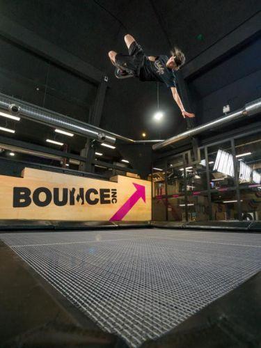 Lorenzo Gennero durante l'allenamento al Bounce