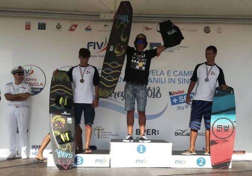 Il 18enne Lorenzo Boschetti è il campione italiano di Kyte surf 2018