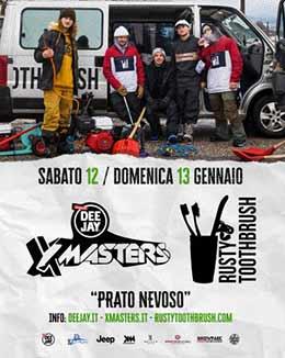 DEEJAY Xmasters a Prato Nevoso  con Rusty Tootbrush e la Mototerapia
