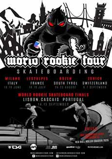 Il Black Yeti annuncia il World Rookie Tour Skateboarding
