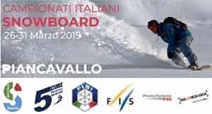 Tricolori snowboard Piancavallo 2019. Martedì 26 marzo si inizia con lo slalom parallelo