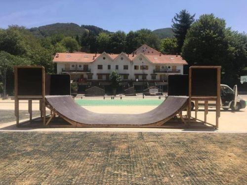 A Gambarie un\'altra novità: installata una pista di skateboard