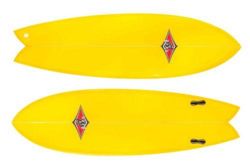 San Onofre il nuovo Fish Twin Fin di Bear Surfboards